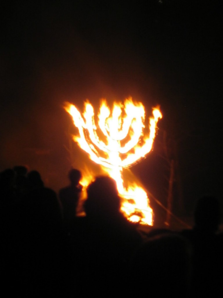 Menorah-fire