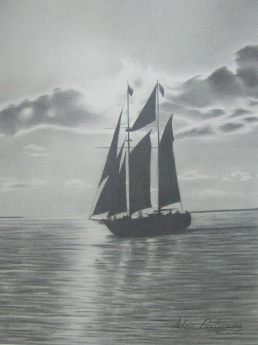 b_w_pencil_drawing_original_art_sailboat_on_calm_sea_12_x_16_7115d3fd